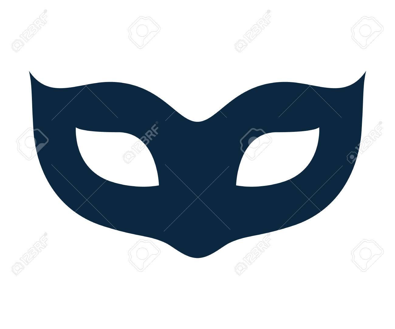 空白カーニバル マスク アイコン テンプレート イラストパーティ仮面