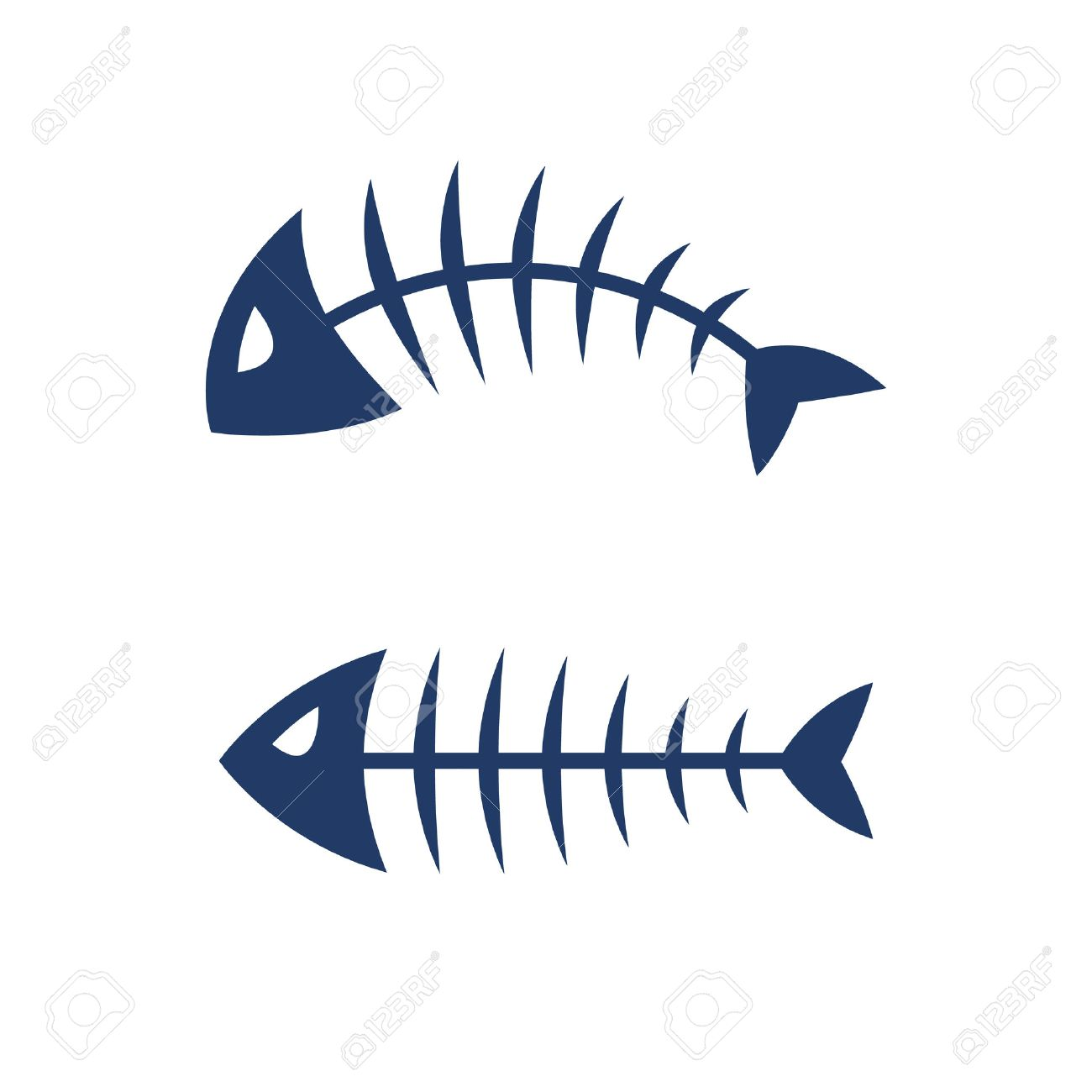 fish bone skeleton symbol vector icon design royalty free cliparts rh 123rf com skeleton fish logo restaurant fish skeleton logo jacket