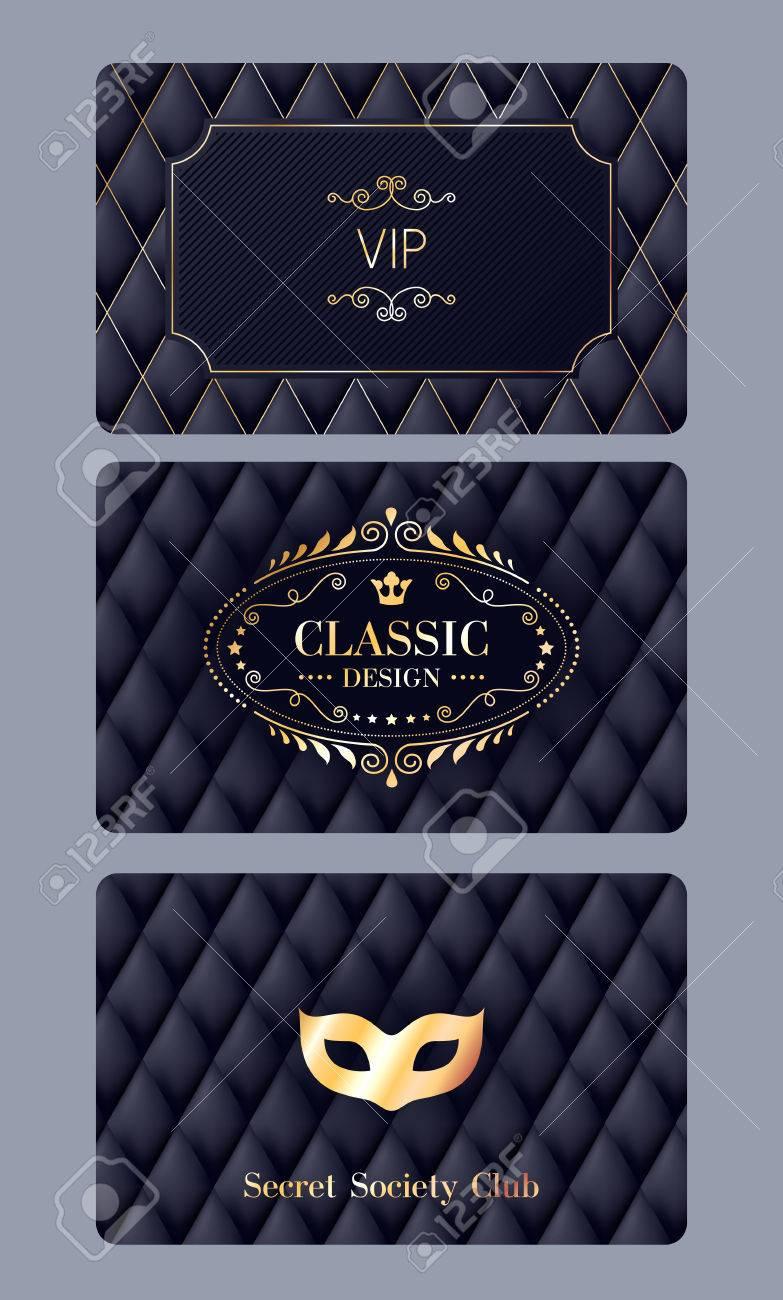 VIP-Mitglied Rabatt-Karten Mit Abstrakten Gesteppten Hintergrund ...
