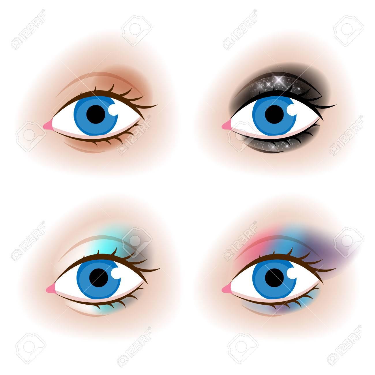 リアルな女性の目はベクトル イラストですチュートリアル デザイン