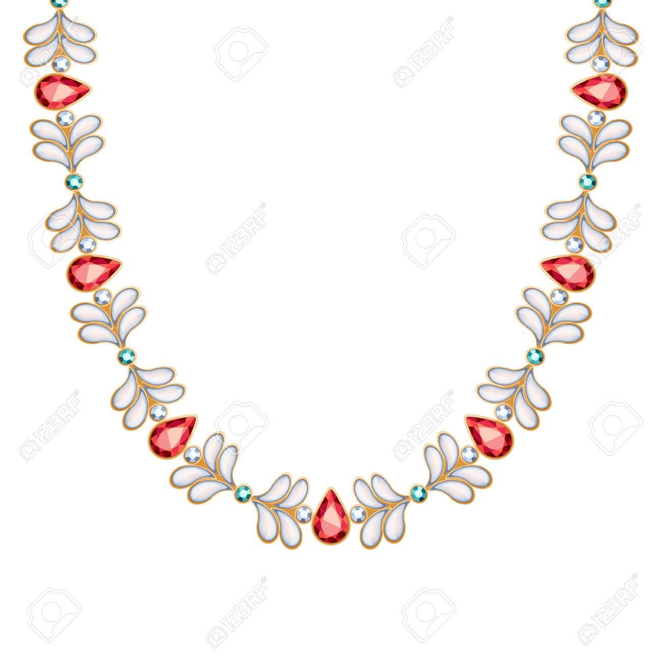 43030b59d75e2 Pierres précieuses et de perles collier de chaîne ou un bracelet d'or.  Personal