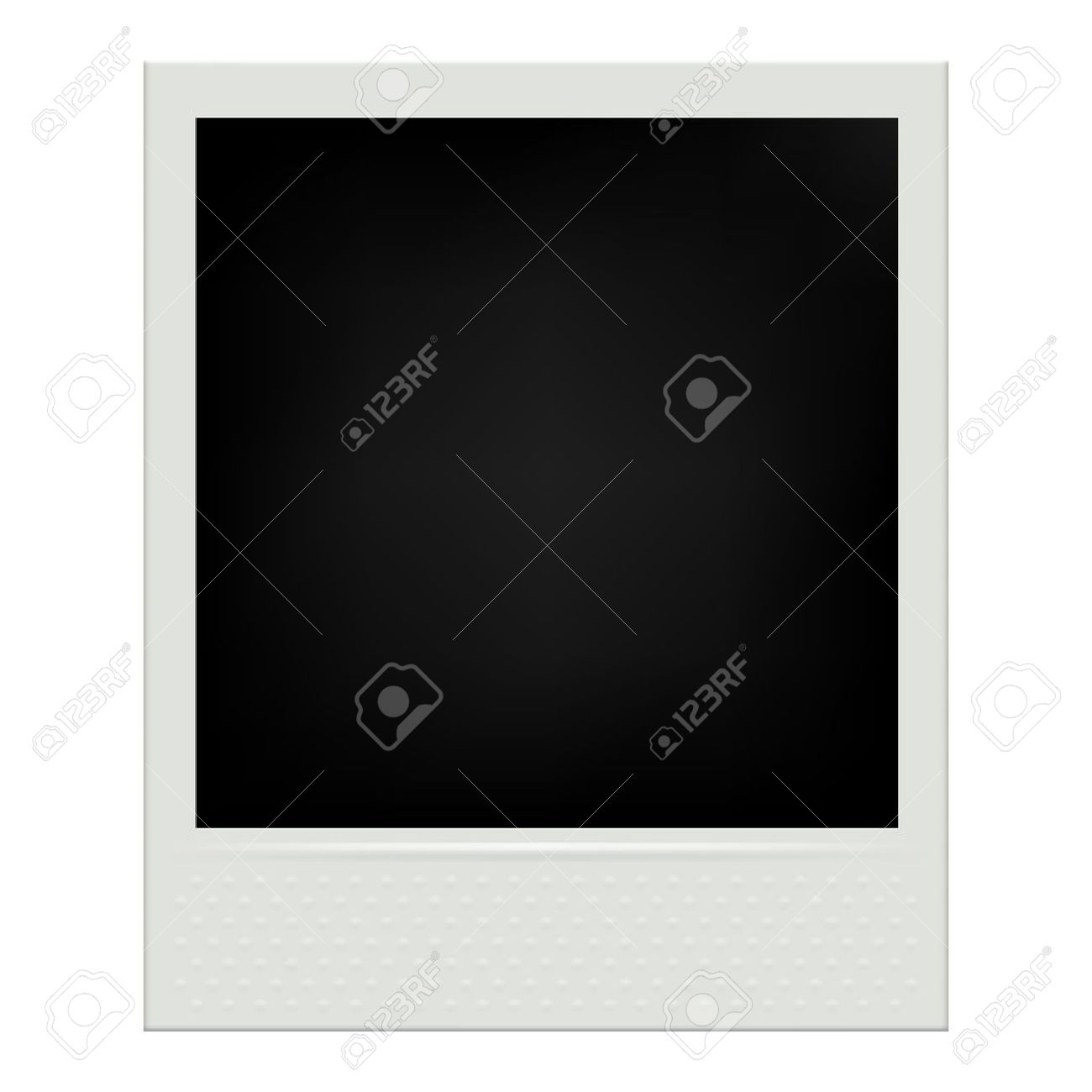 Instant Film Realistic Polaroid Frame Isolated Vector Illustration ...