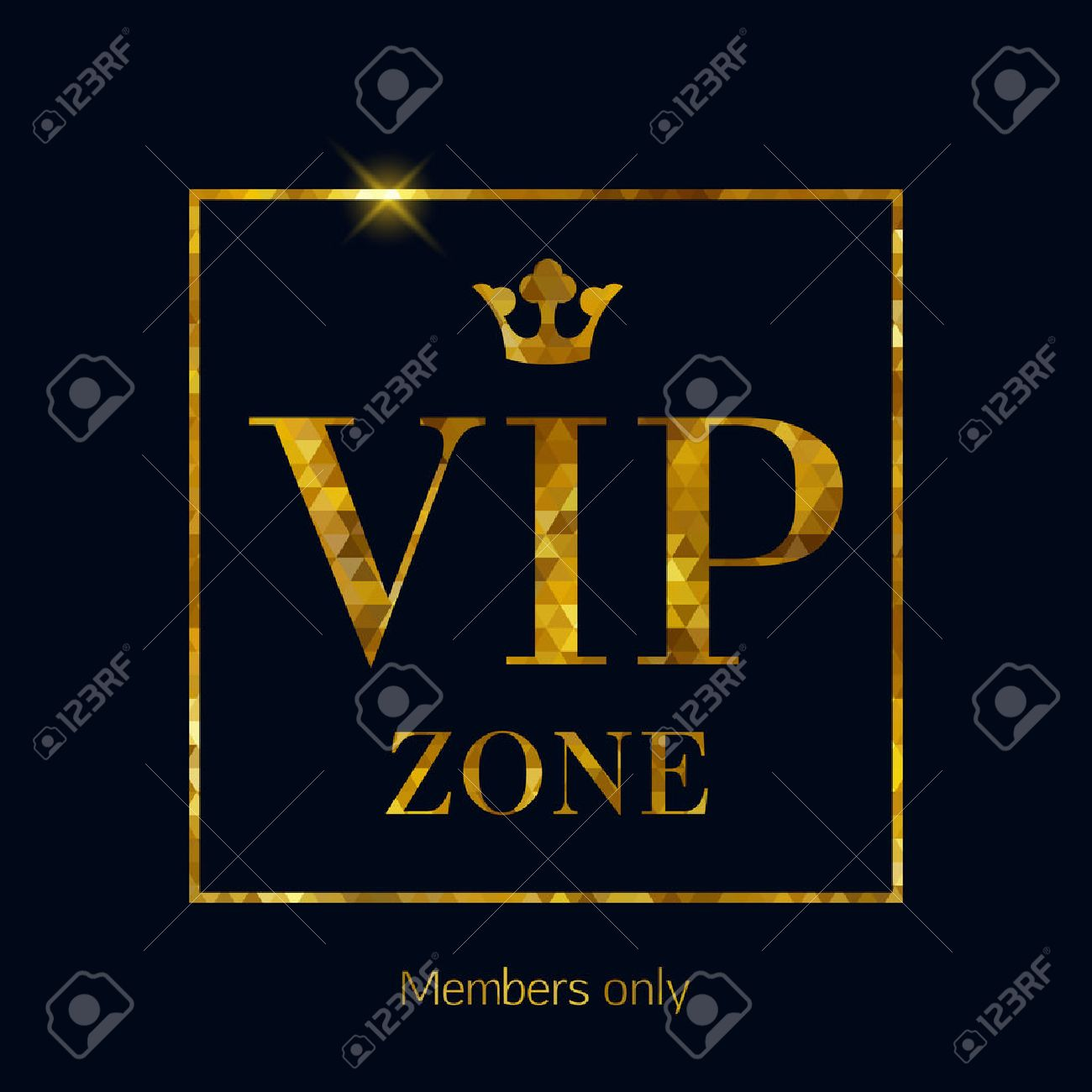 Vip zone abstract mosaic faceted background golden letters with vip zone abstract mosaic faceted background golden letters with royal crown good for party spiritdancerdesigns Image collections