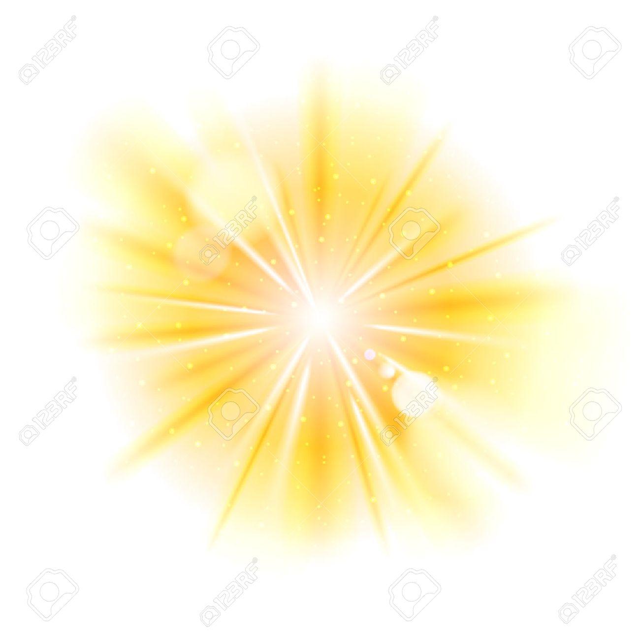 黄色光サンバースト背景ベクトル星キラキラ イラスト バーストの