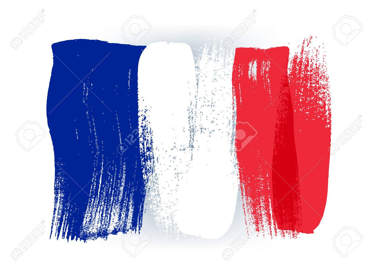 France colorful brush strokes painted national country french flag icon. Painted texture. - 56476795