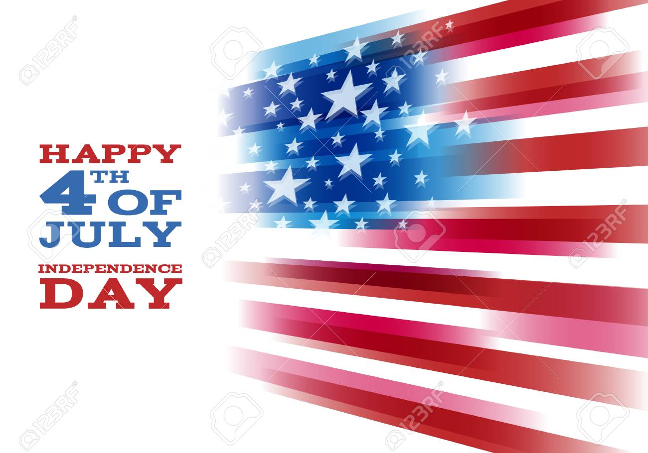 4th July Independence Day Background Design National Day USA