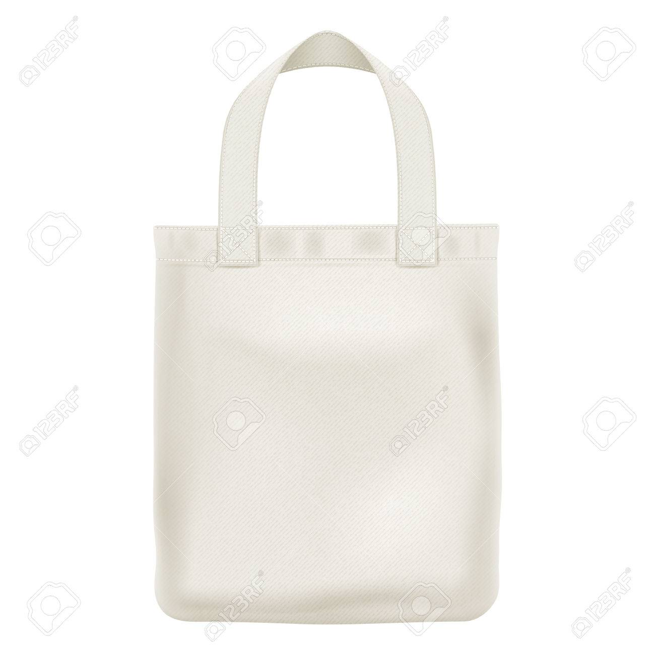 Eco textile tote shopper bag vector illustration. Good for branding design. - 59873219