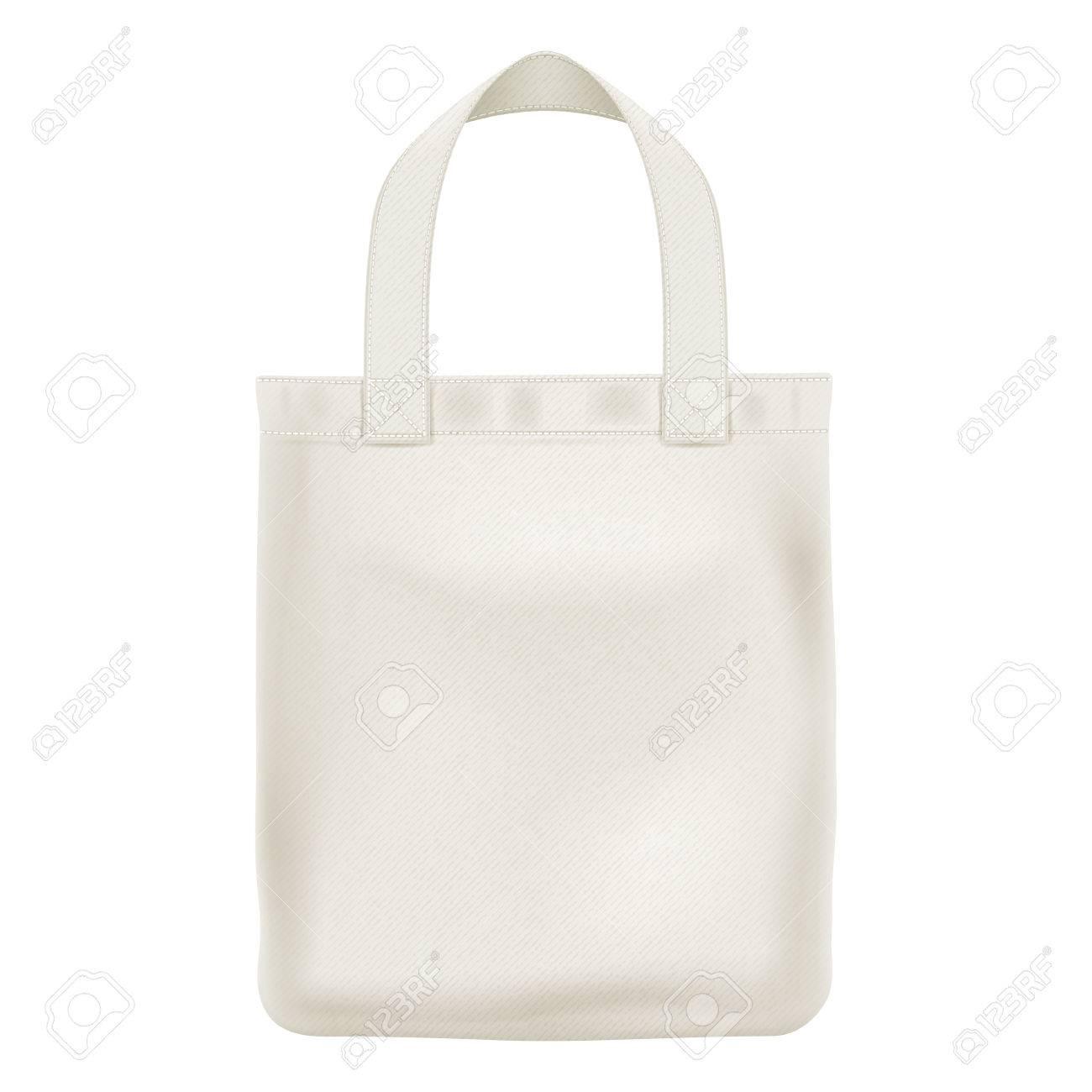 eco textile tote shopper bag vector illustration good for branding