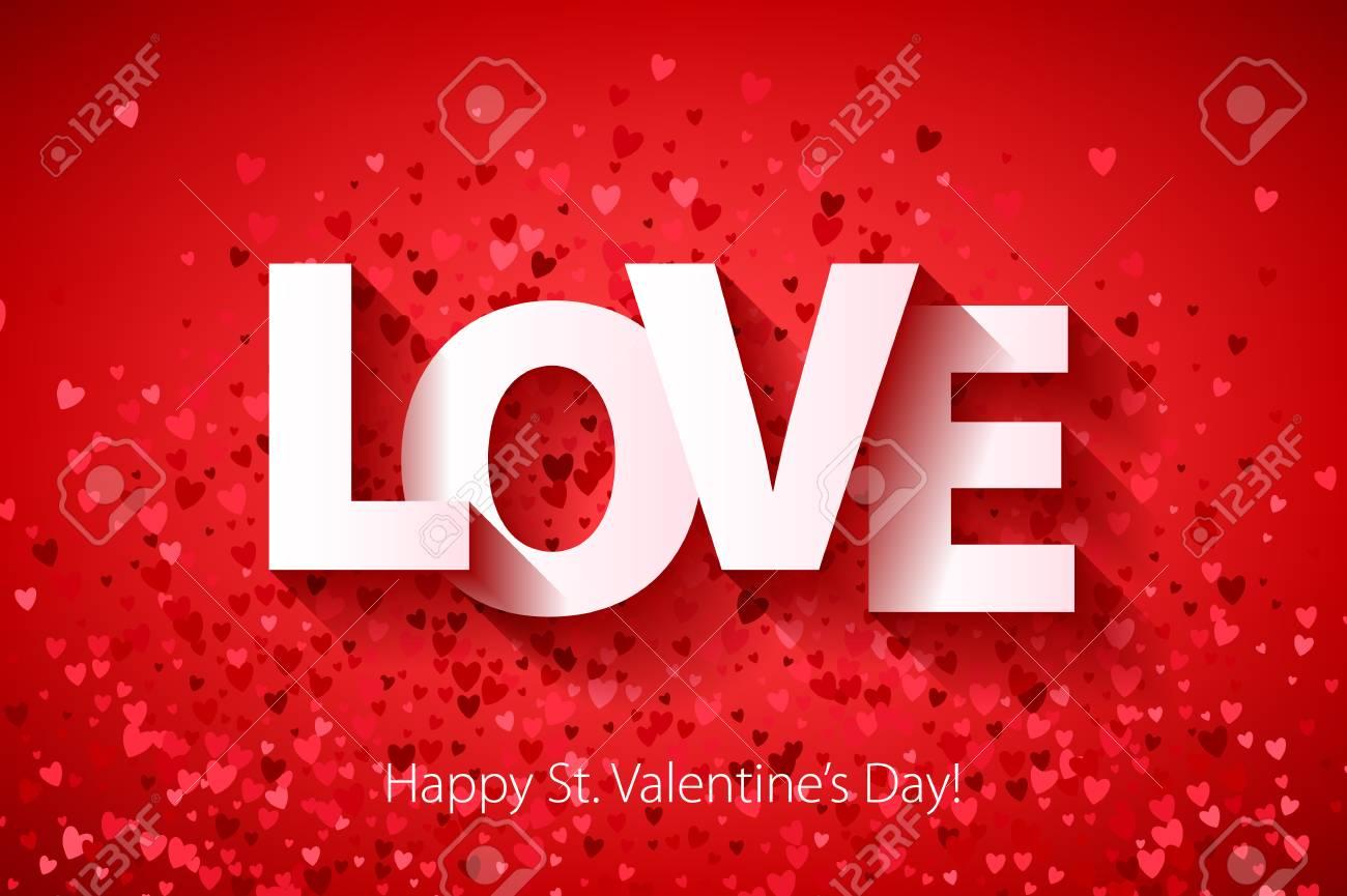 Happy Valentines day poster background. Love symbol. - 70647986