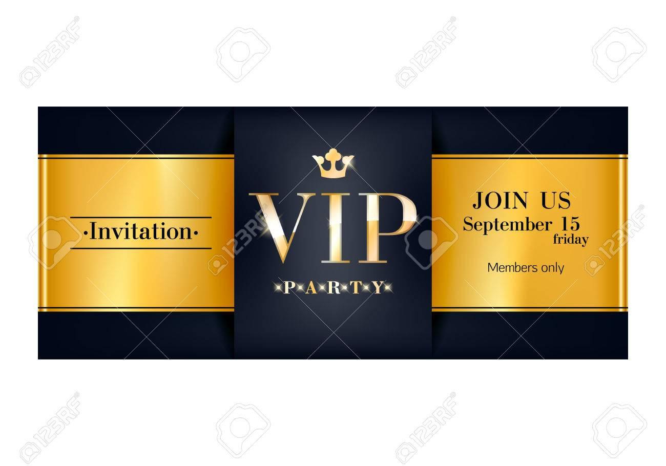 carte d invitation vip modele de design haut de gamme
