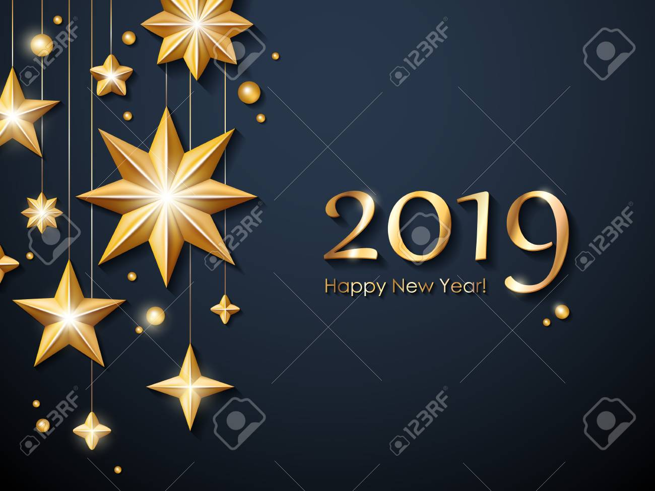 2019 happy new year background seasonal greeting card template stock vector 102751364