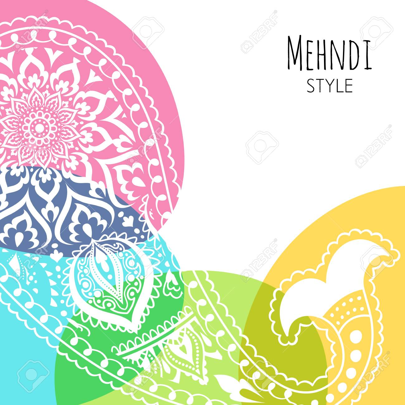 Colorful Paisley Vector Illustration Indian Background Yoga Royalty Free Cliparts Vectors And Stock Illustration Image 115046209