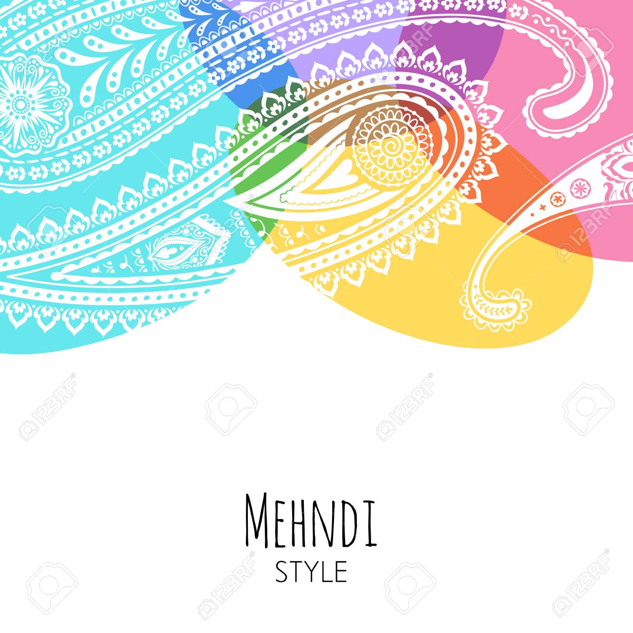 Colorful Paisley Vector Illustration Indian Background Yoga Royalty Free Cliparts Vectors And Stock Illustration Image 115046213