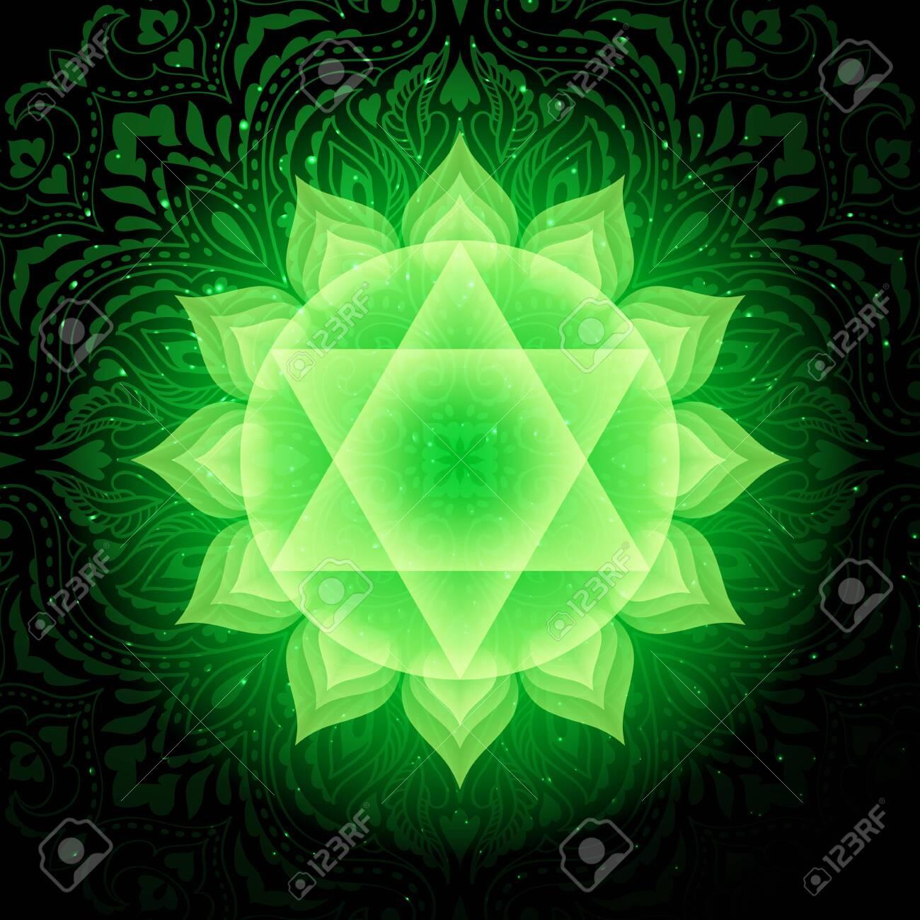 Anahata chakra colorful symbol icon. Heart Chakra. - 122477933