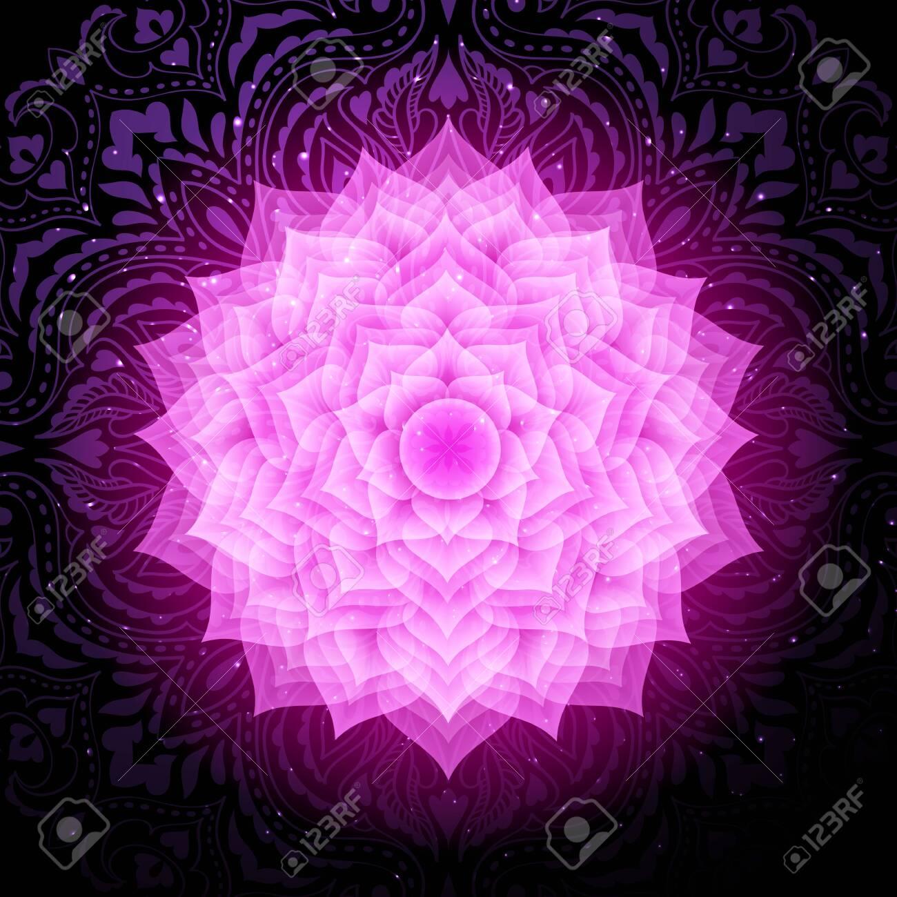Sahasrara chakra colorful symbol icon. Crown chakra. - 122477934