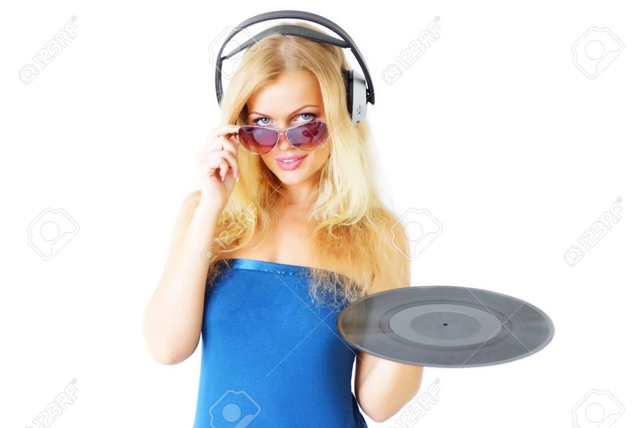 Beautiful girl listening to music Stock Photo - 7706156