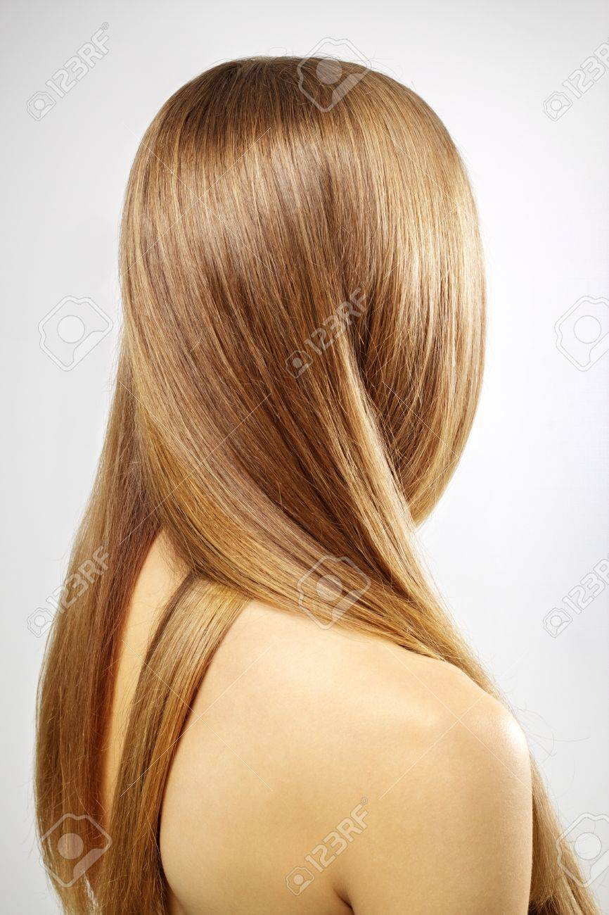 Girl with beautiful straight hair Stock Photo - 12235335