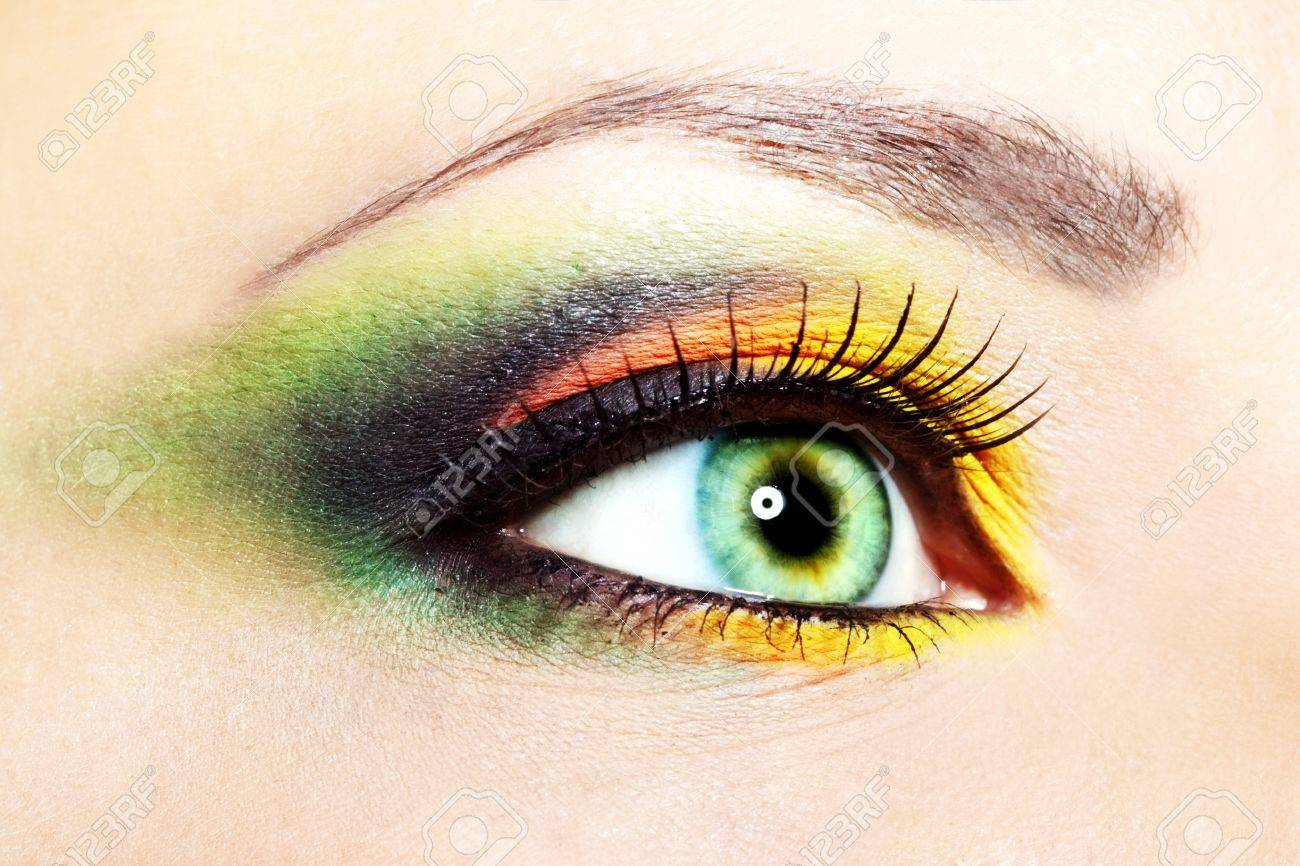 Beauty female eye Makeup close-up - 15261716