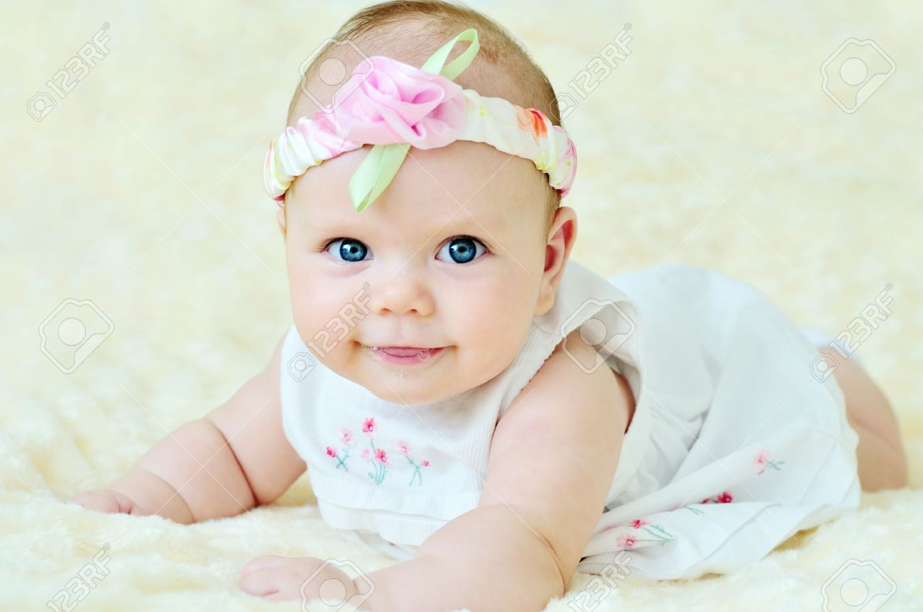Adorable Baby Girl Wearing White Dress Stock Photo Picture And Royalty Free Image Image 14090936 Uzoo published june 13, 2016 8,002 views. adorable baby girl wearing white dress