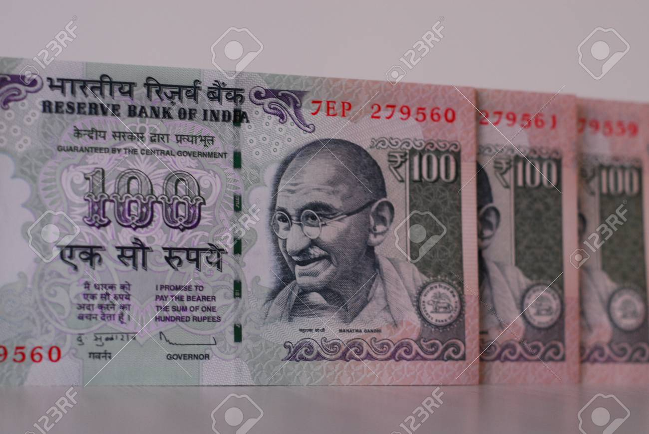 Indian rupees - 100 rupee notes