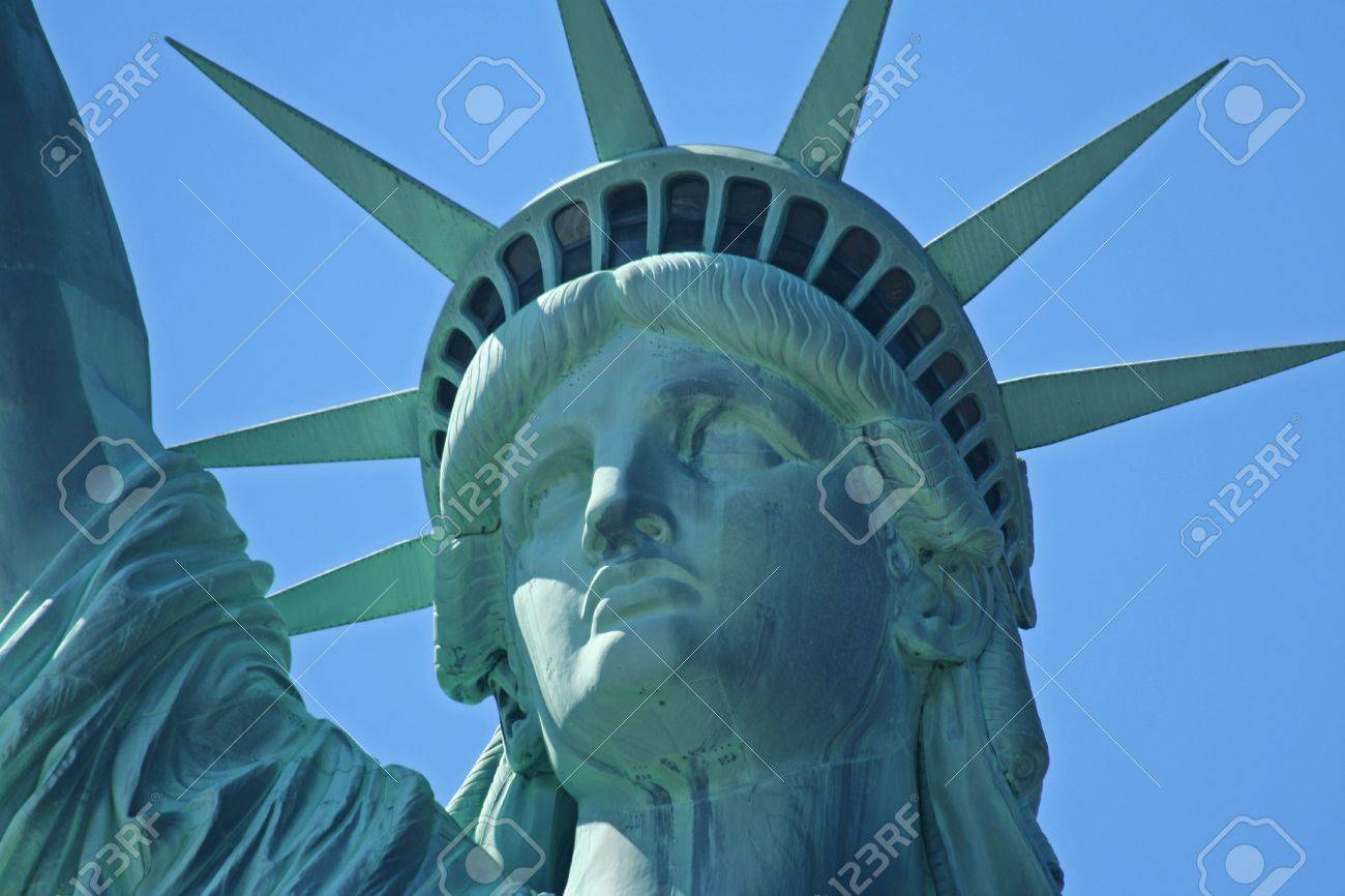 90530c16fc04a Statue Of Liberty- Face Close Up Stock Photo, Picture And Royalty ...