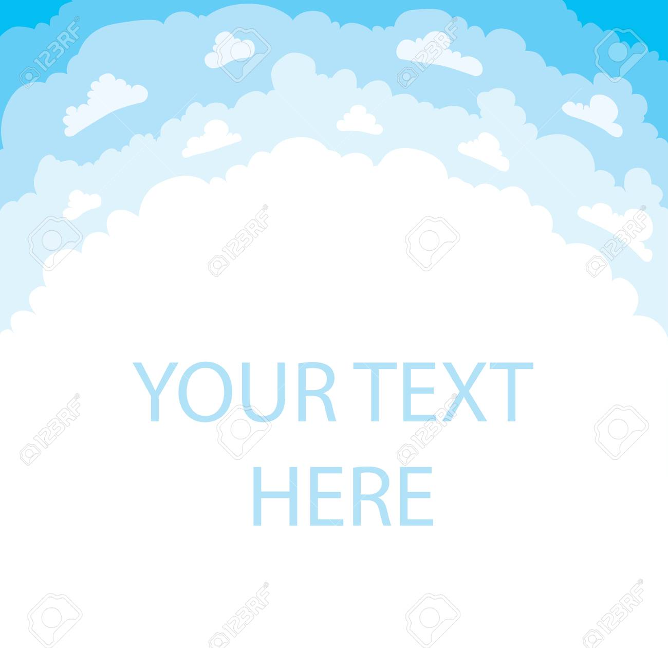 空の背景イラスト漫画上雲のデザイン ロイヤリティーフリーフォト