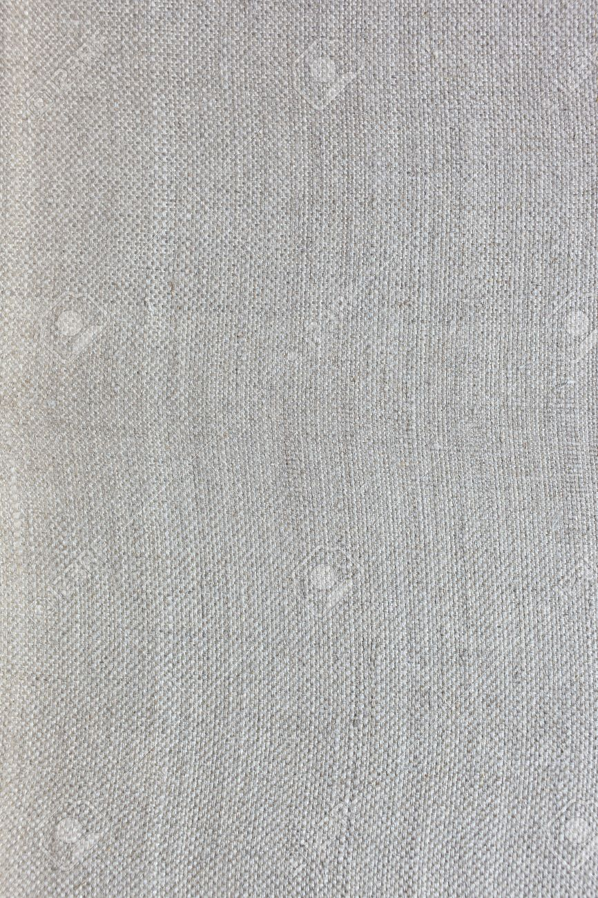 Fine Linen Canvas Fabric Texture For Background Stock Photo