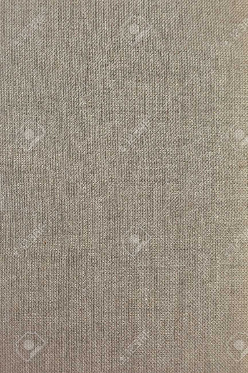 fine texture of linen canvas fabric background stock photo