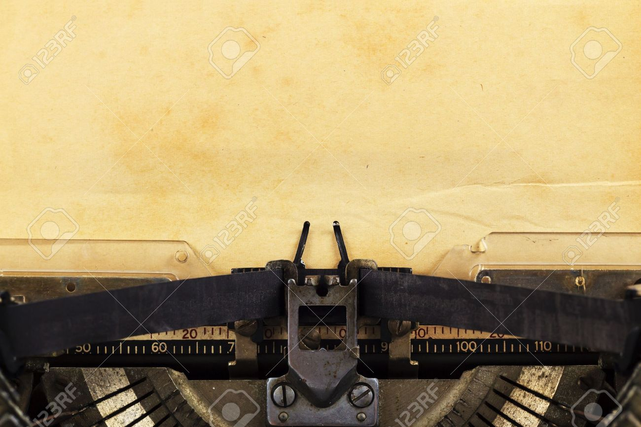 old typewriter with paper  Vintage Typewriter Paper Photography