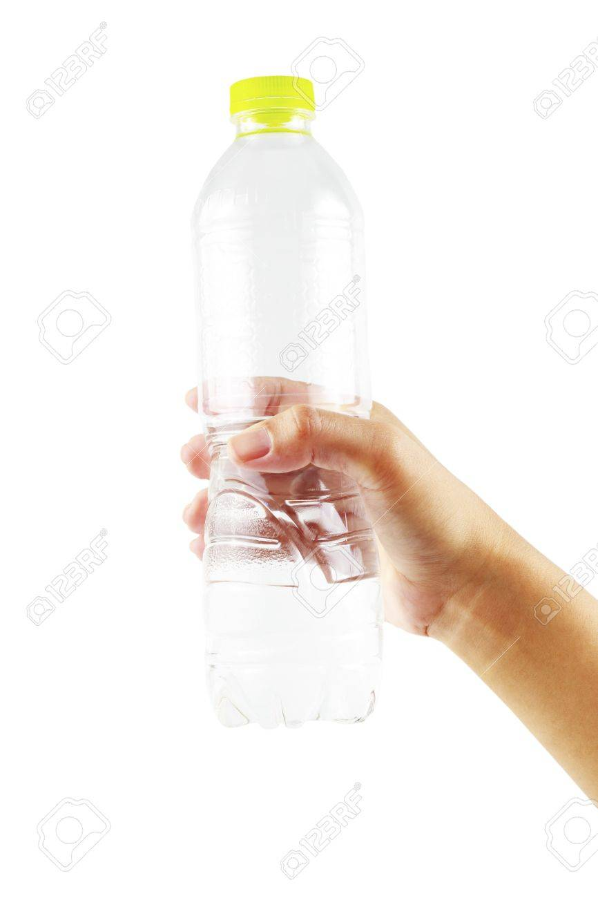 Hold water bottle green cap. Stock Photo - 13762739