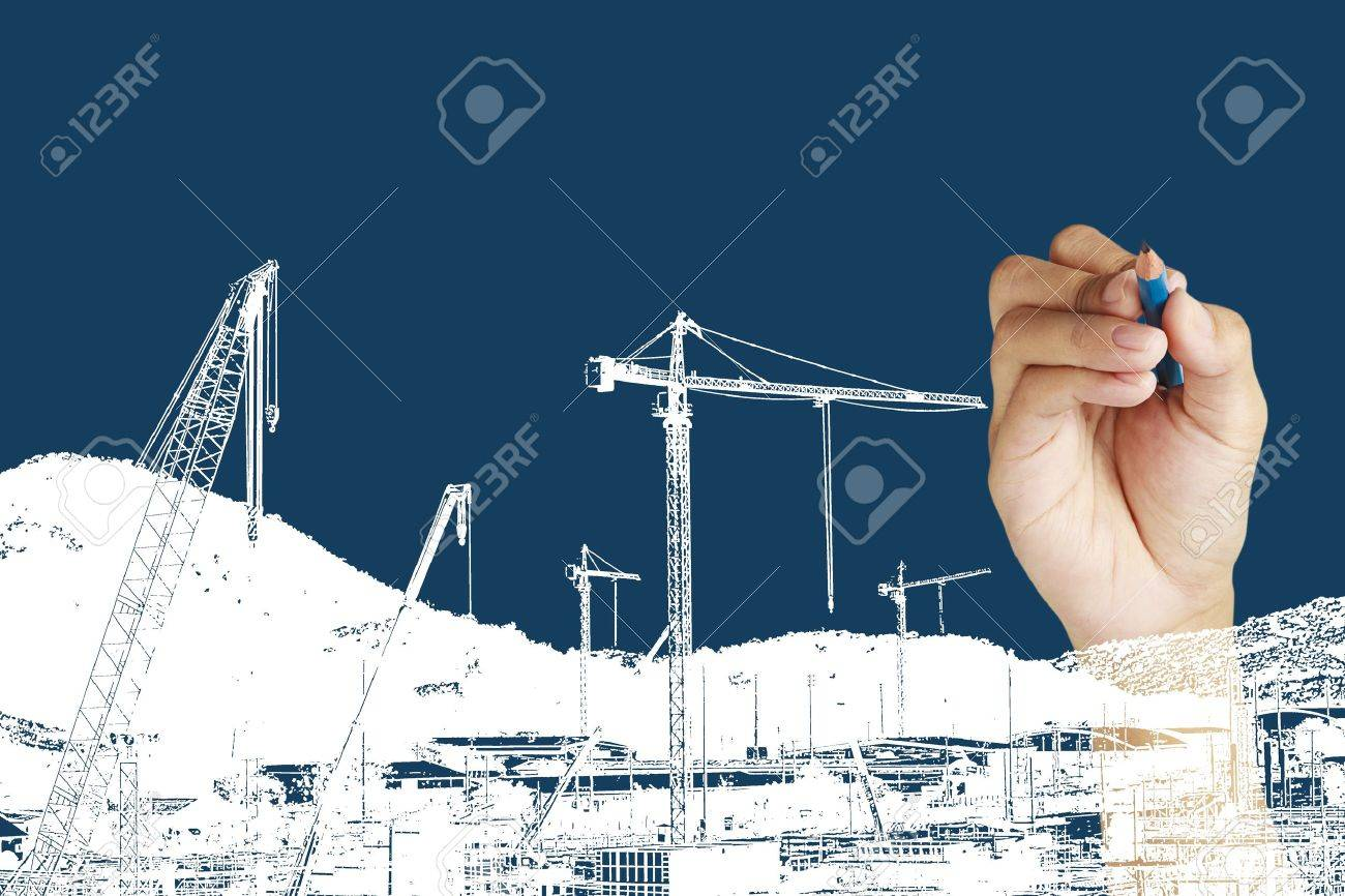 drawing construction site Stock Photo - 14474799