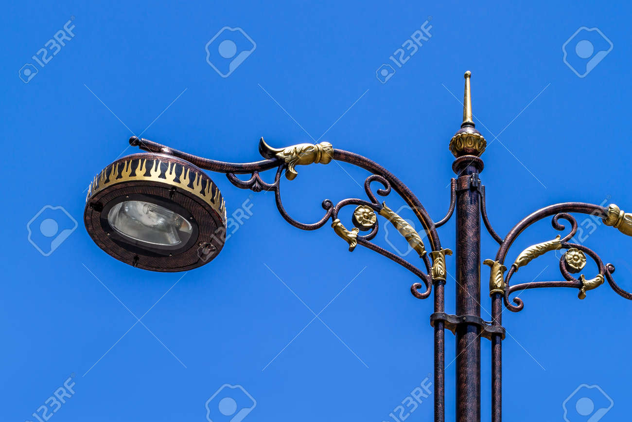 vintage street lights in Istanbul city - 162314051