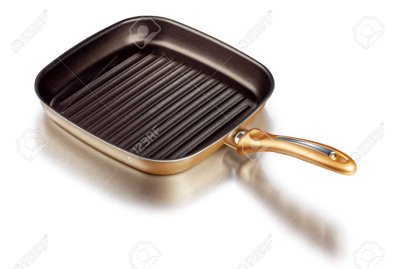 A square grill pan isolated on white with clipping path - 173222575