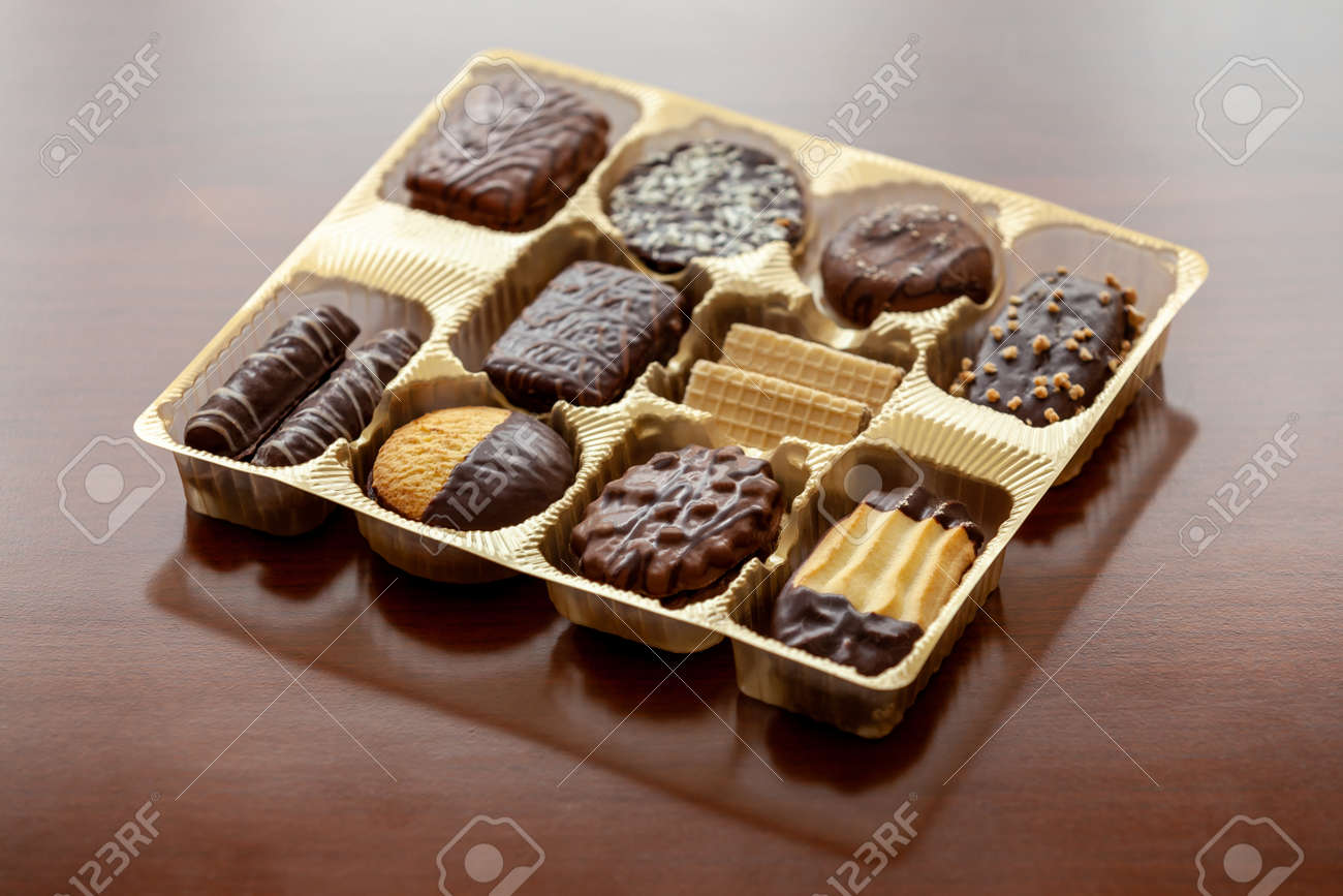 A box full with Assorted biscuits - 172753415