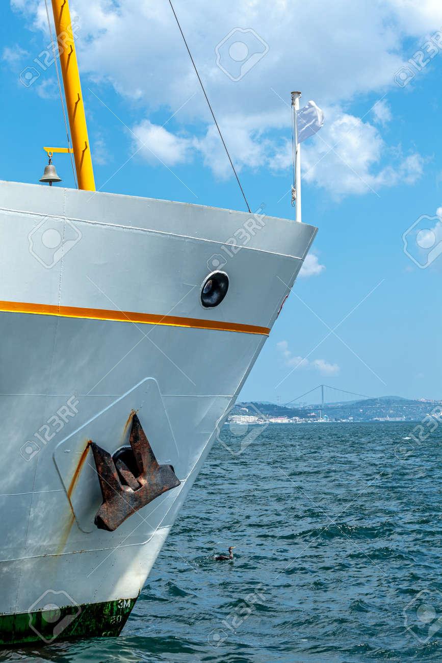 ferry in eminonu port istanbul, the starboard side - 172752568