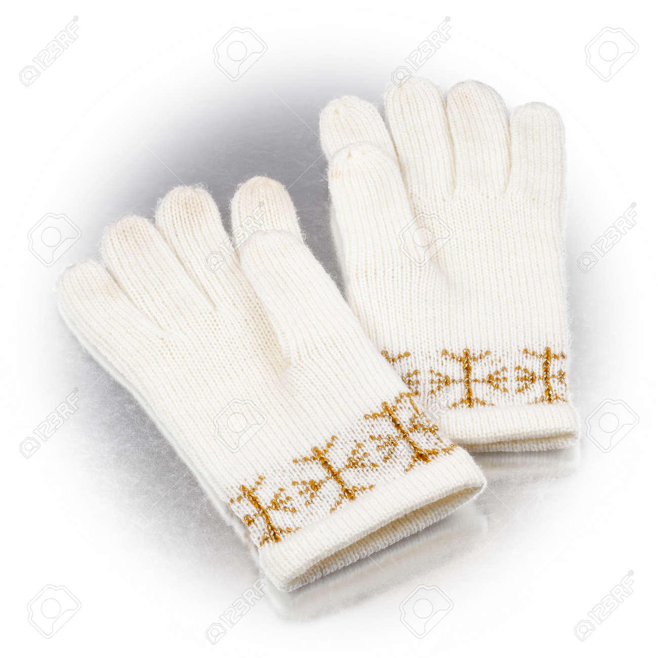 winter gloves on a white background - 172752669