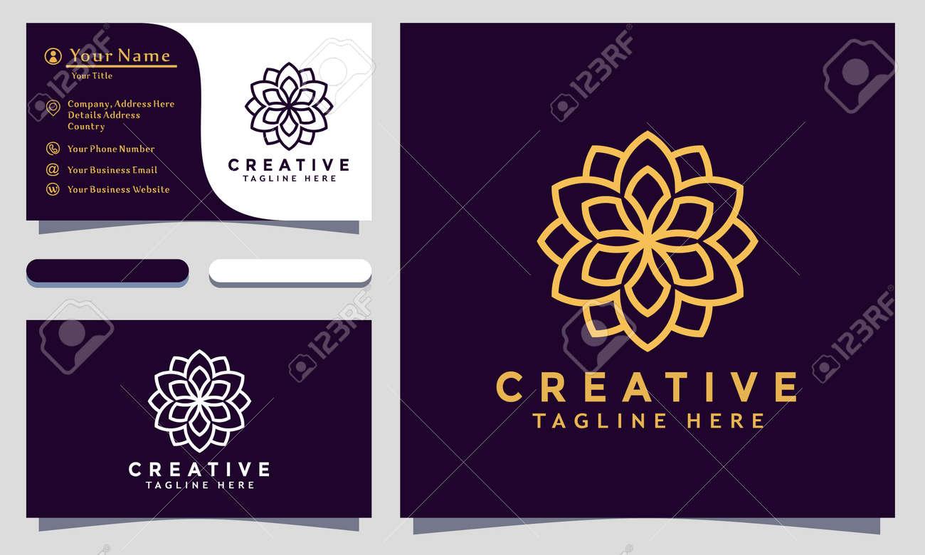 Modern creative Mandala Logo Design and template. Ornamen Logos icon minimalist elegant vector - 159438574