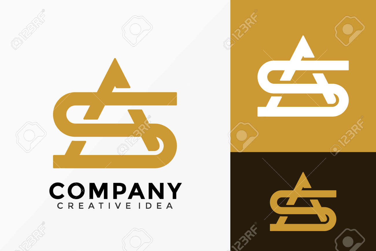 Luxury Letter AS Monogram Company Logo Vector Design. Abstract emblem, designs concept, logos, logotype element for template. - 167131983