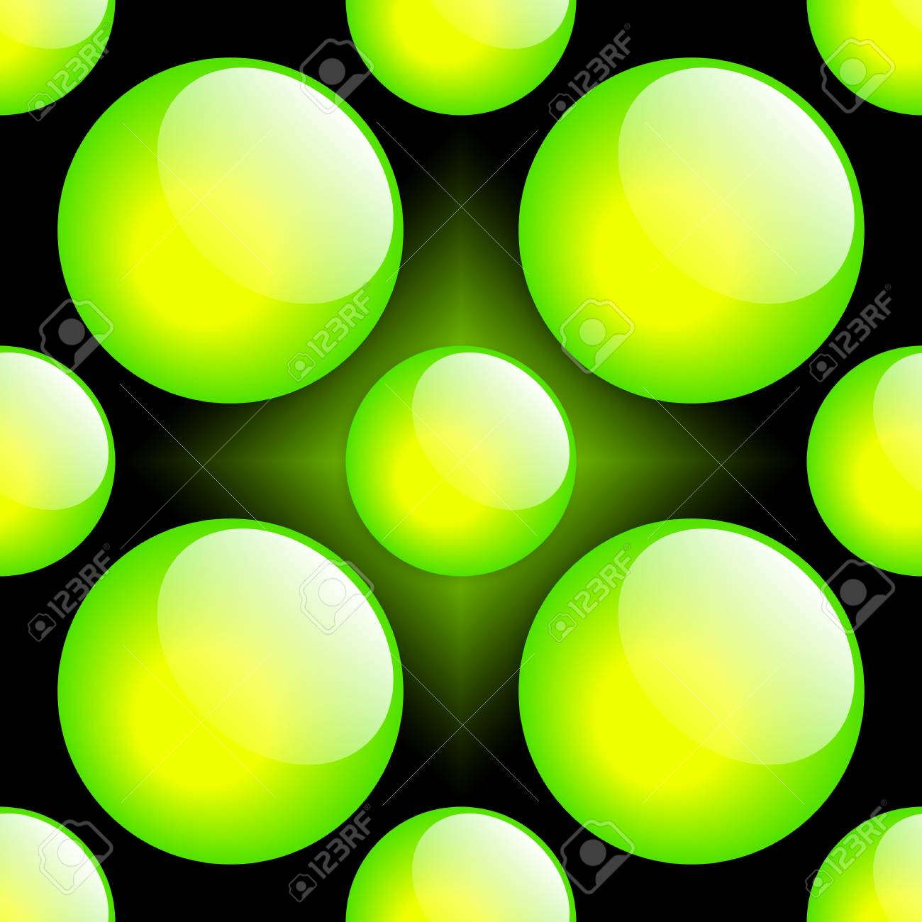 Fresh Button Pattern. Green & Black. Stock Photo - 4001208