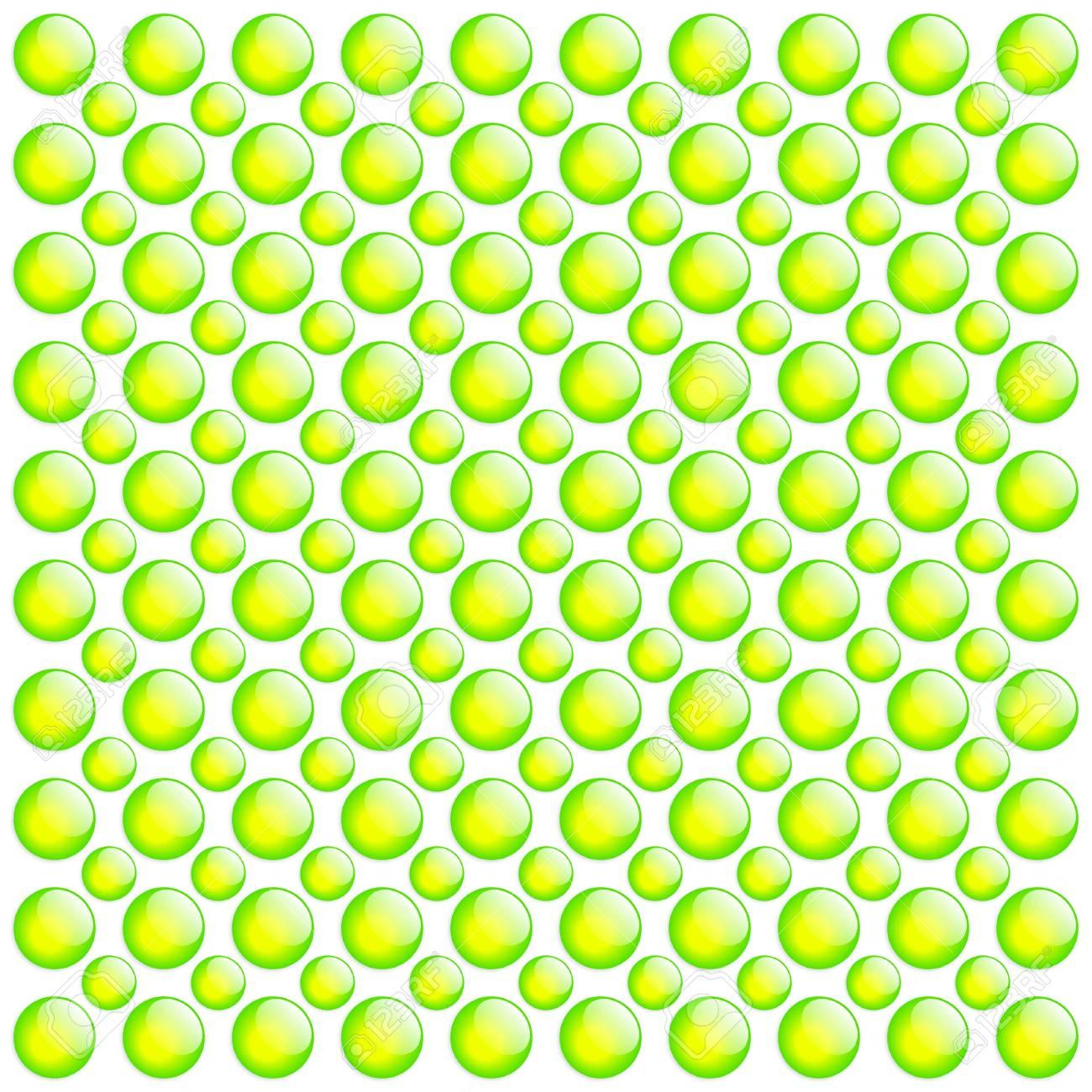 Fresh Button Background. Green & White. Stock Photo - 4001213
