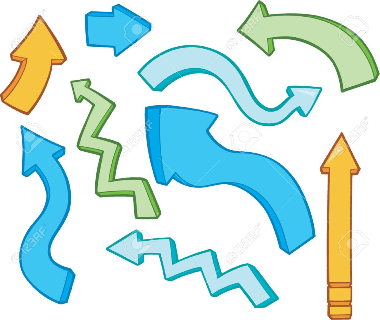 Vector Illustrations of Arrows Stock Vector - 892556