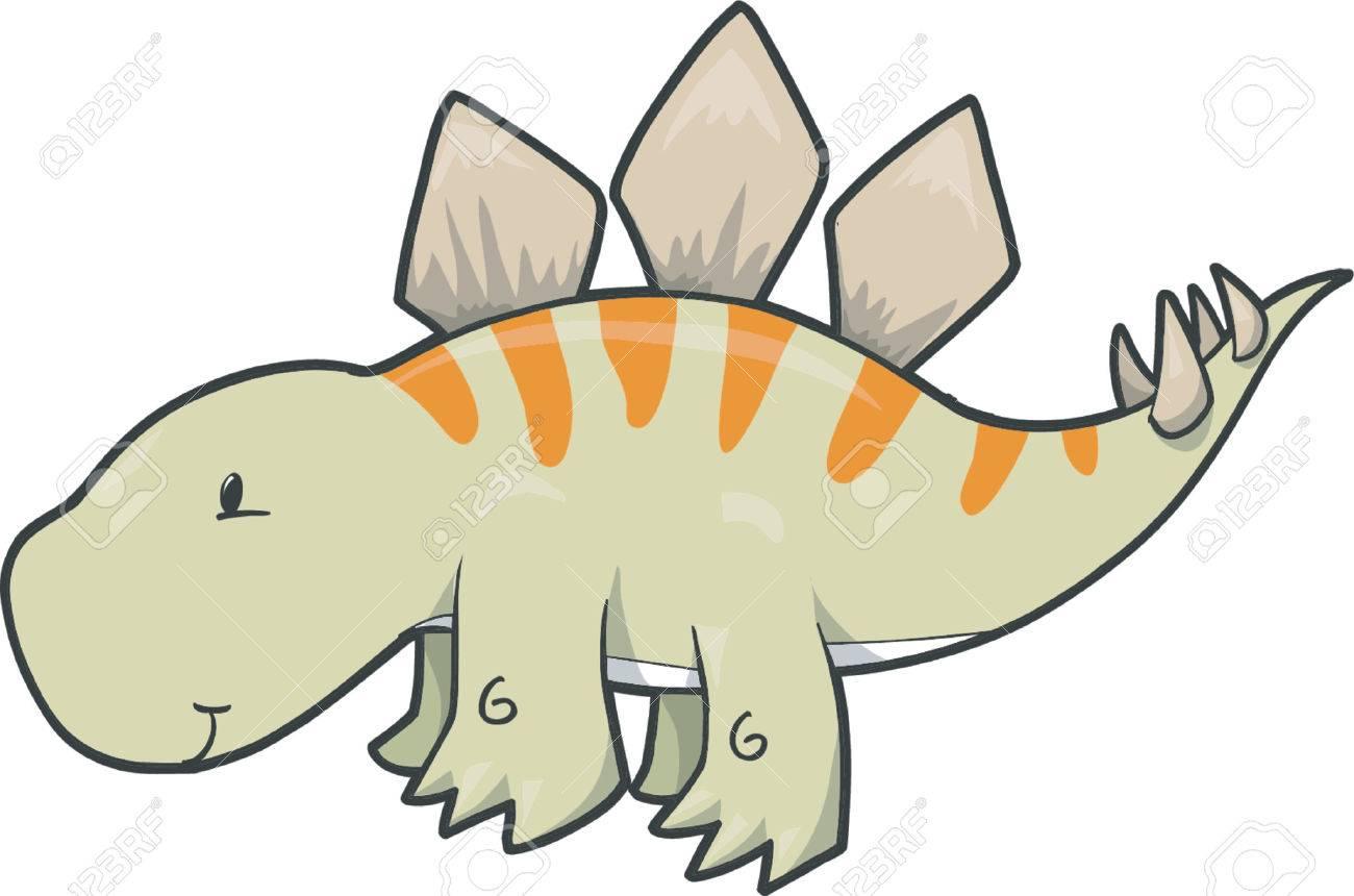 Uncategorized Cute Stegosaurus cute stegosaurus dinosaur vector illustration royalty free stock 892604