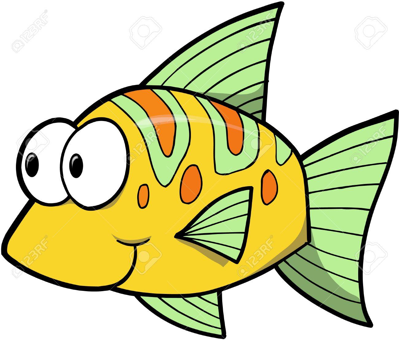Yellow Fish Vector Illustration Royalty Free Cliparts, Vectors ...