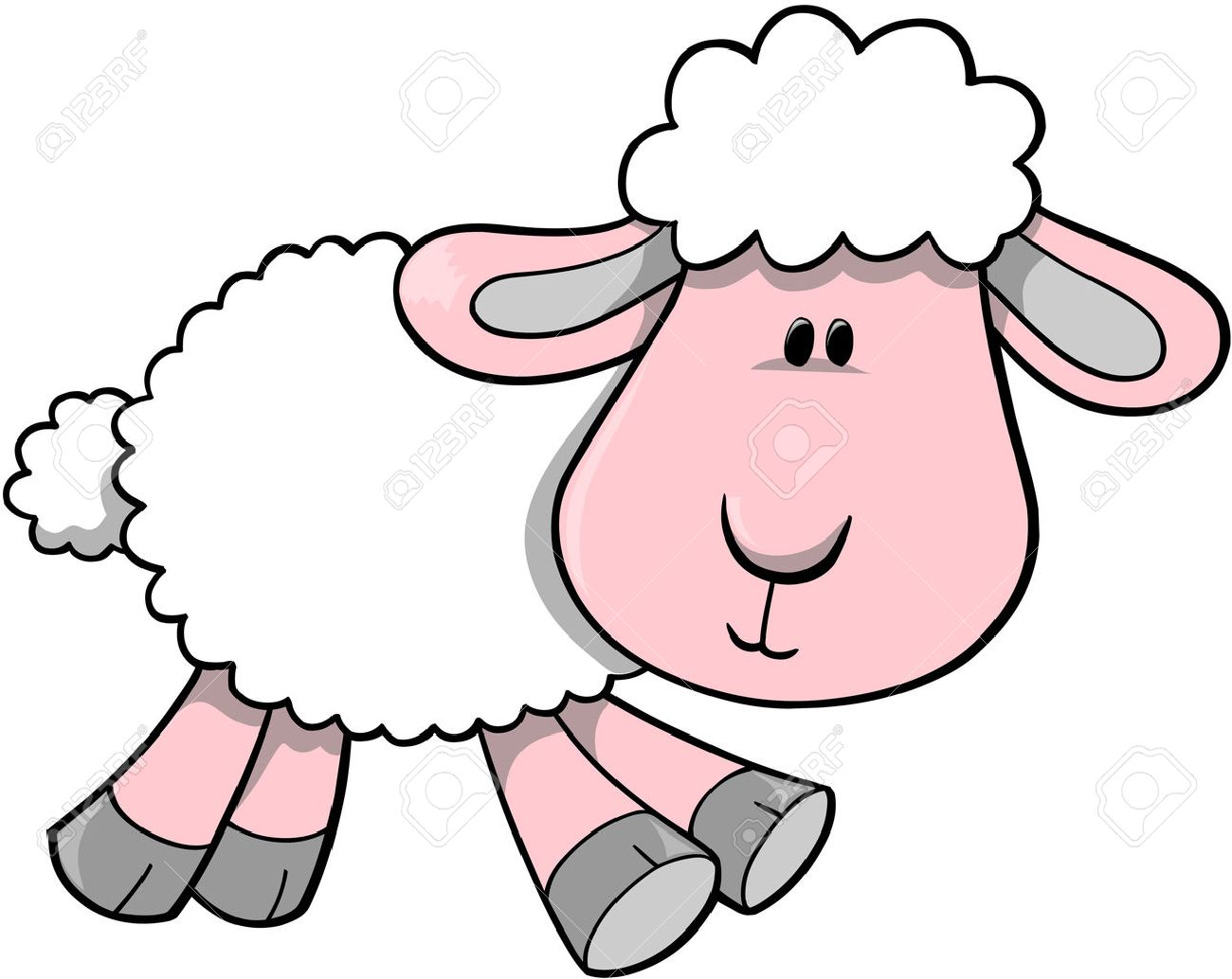 Lamb Vector Illustration Stock Vector - 2046619