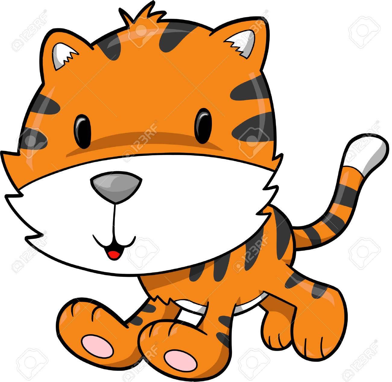 Tiger Vector Illustration Stock Vector - 2046637