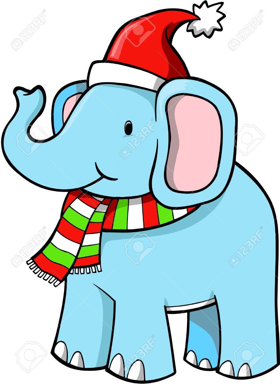 White elephant christmas clip art