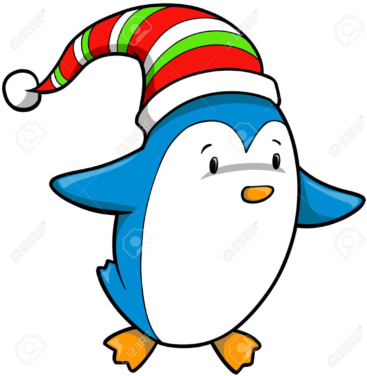Christmas Holiday Penguin Vector Illustration Stock Vector - 2077710