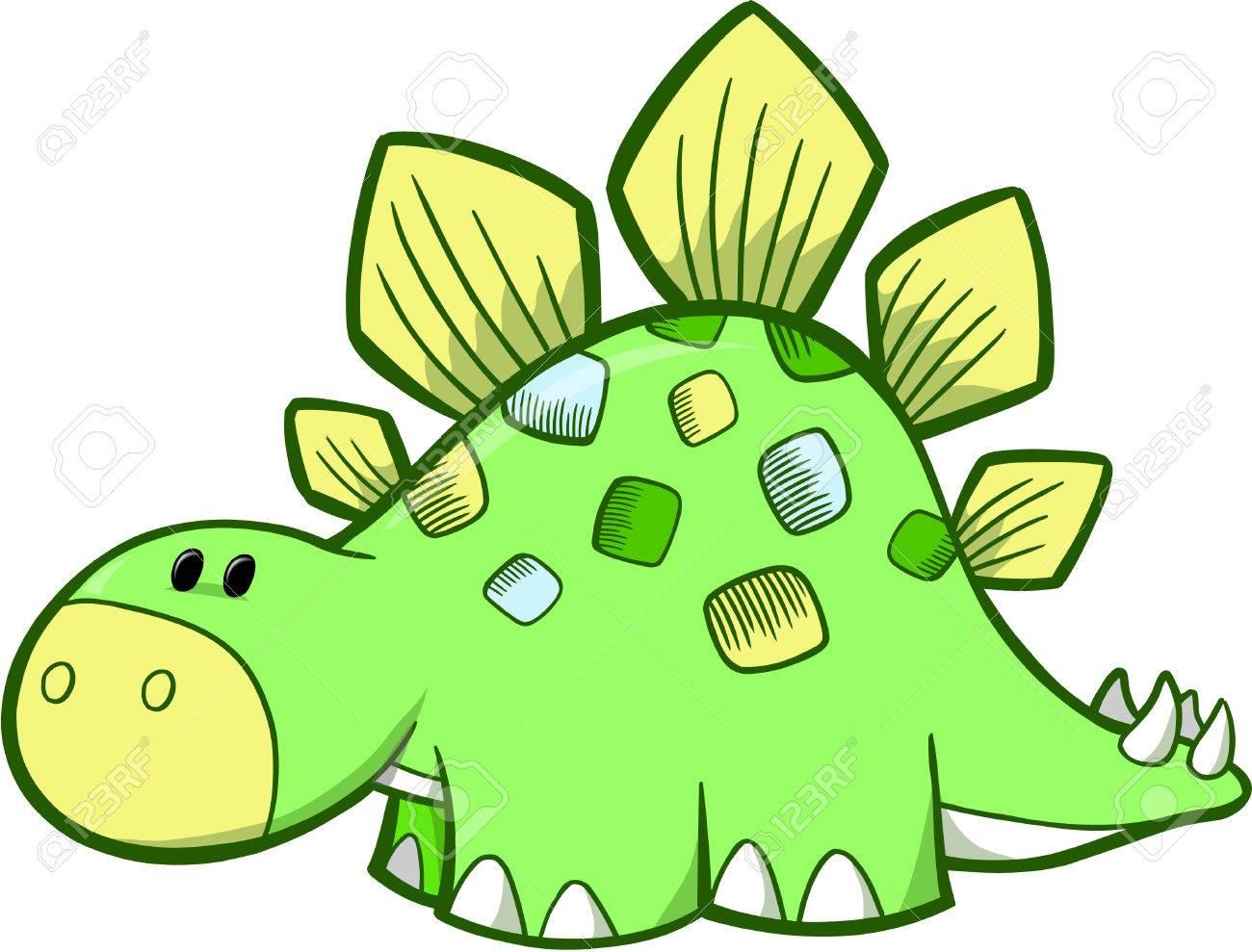 Stegosaurus Dinosaur Vector Illustration Stock Vector - 2134374