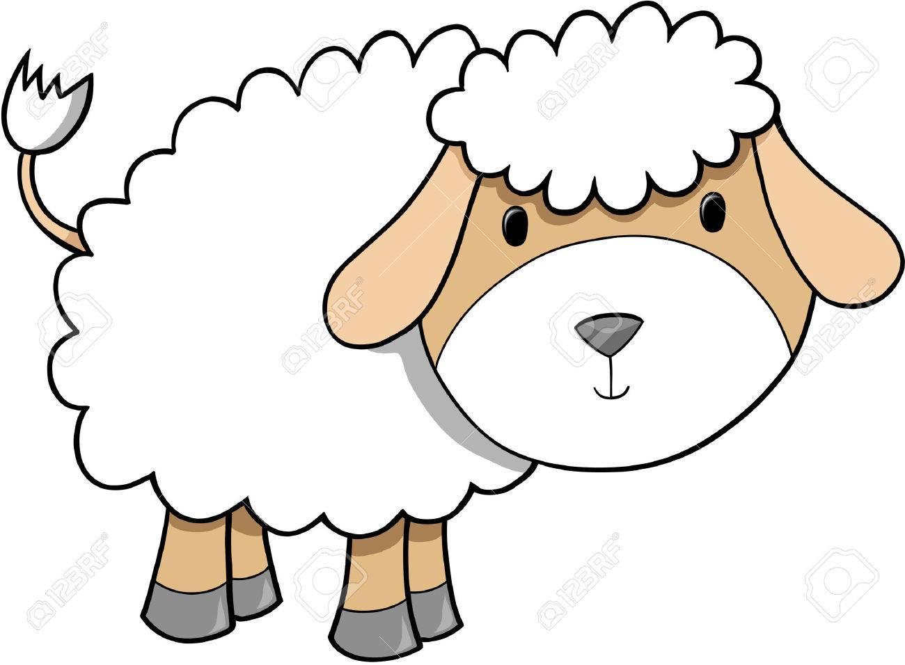 Sheep Lamb Vector Illustration Stock Vector - 2408637