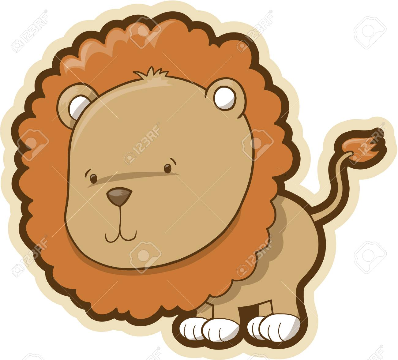 Cute Safari Lion Vector Illustration Stock Vector - 3050809